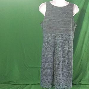 Athleta Dresses - Athleta L blue/black sleeveless mini dress